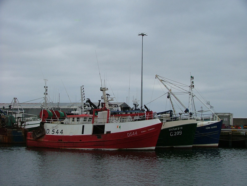 Various trawlers tied up at Rossaveal