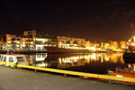 Galway Harbour Night at Night