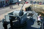 German Navy Minesweeper M1058 Fulda Bow Gun