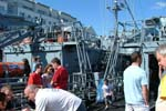 German Navy Minesweepers M1058 Fulda and M1060 Weiden Visitors